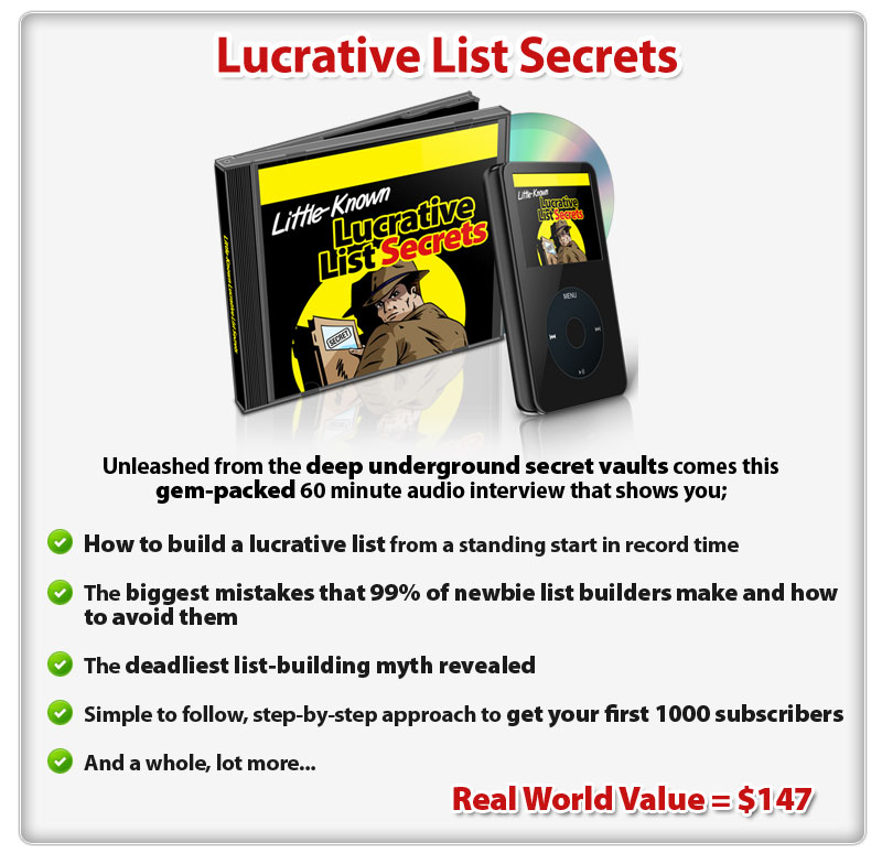 Lucrative List Secrets ConYeco