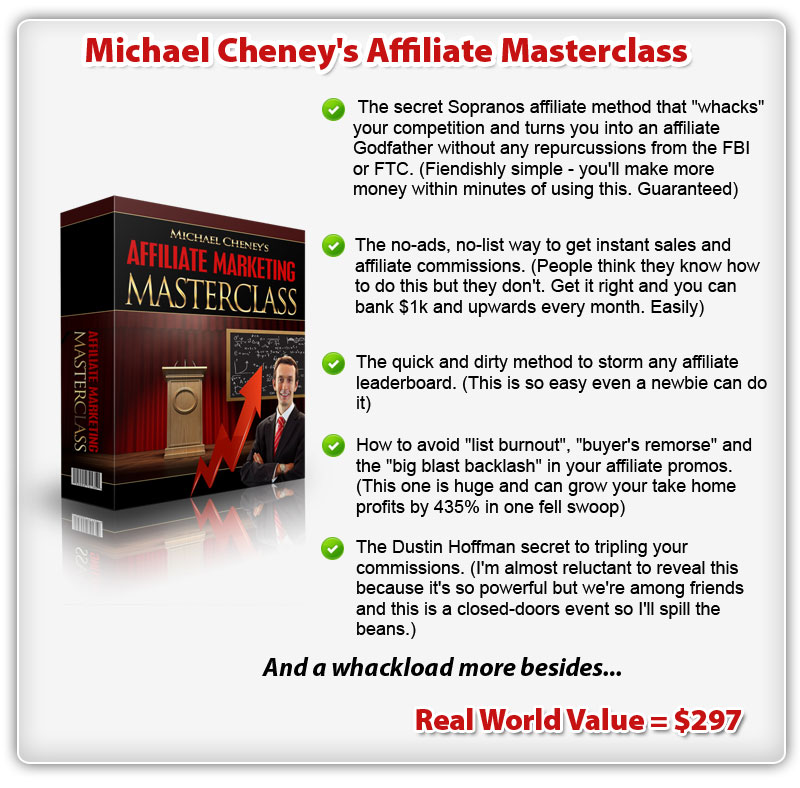 Michael Cheney's Affiliate Masterclass ConYeco