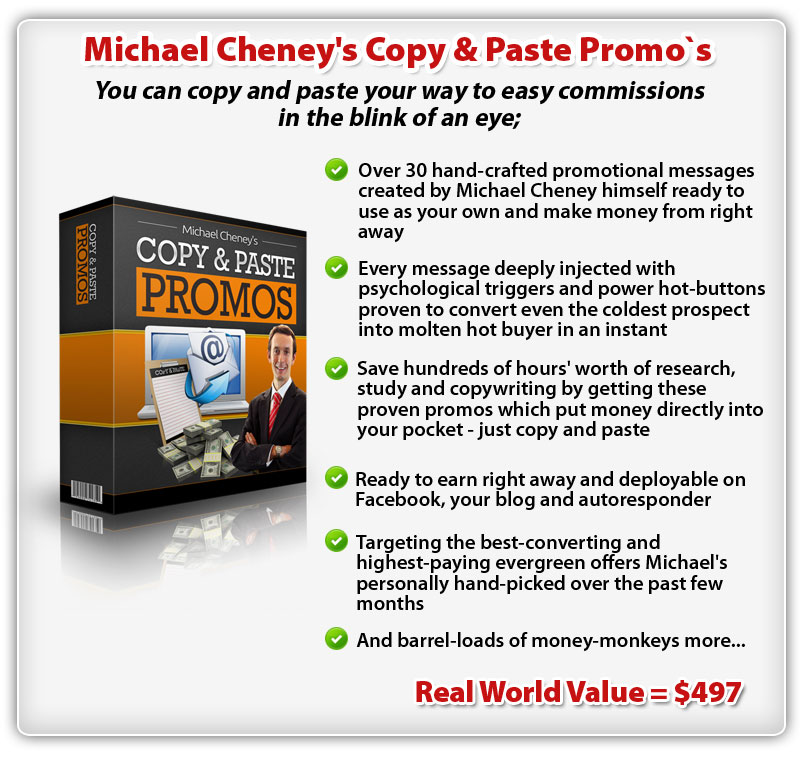 Michael Cheney's Copy & Paste Promo's ConYeco