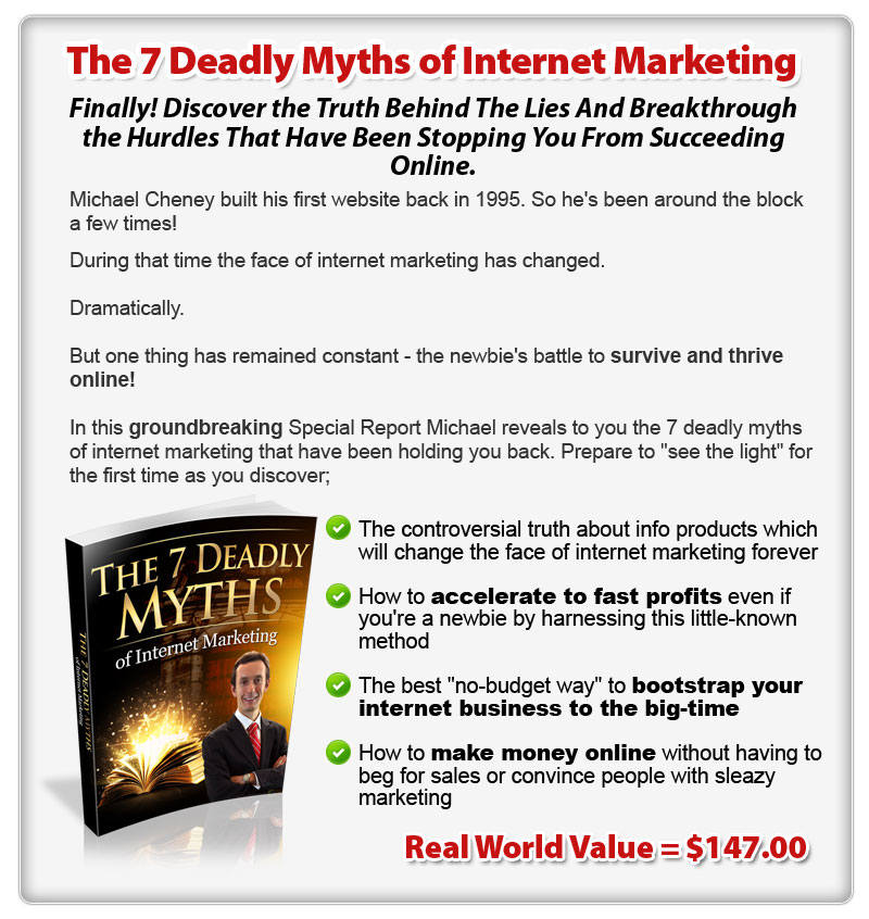 The 7 Deadly Myths of Internet Marketing ConYeco
