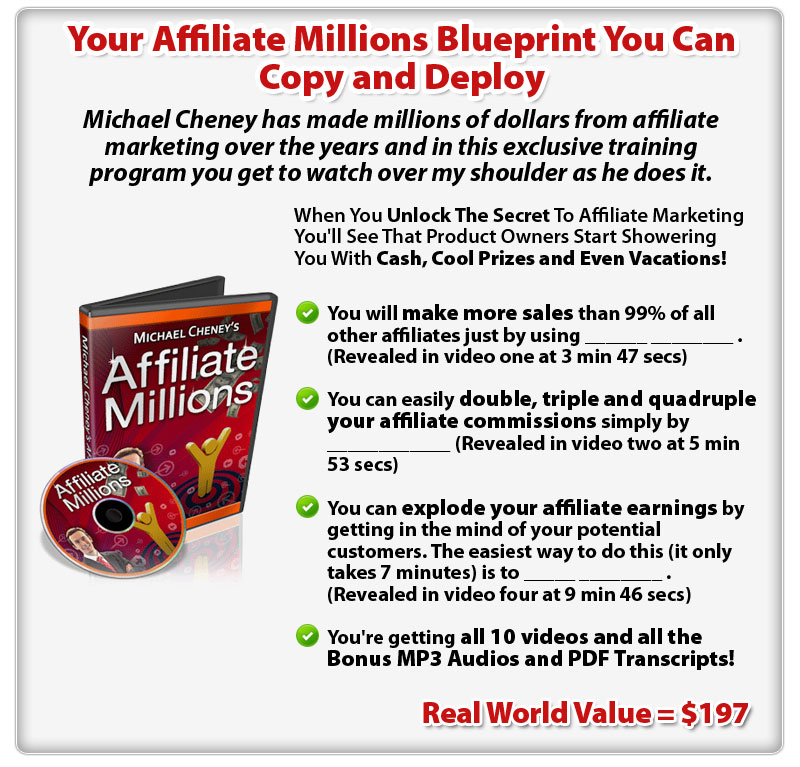 Your Affiliate Millions Blueprint You Can Copy and Deploy - ConYeco